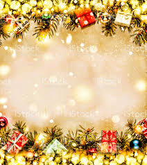 new year background frame of christmas tree branches and christmas