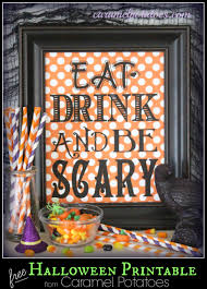 Printable Halloween Drink Labels by Caramel Potatoes Monster Munch Mix And Printable Tags