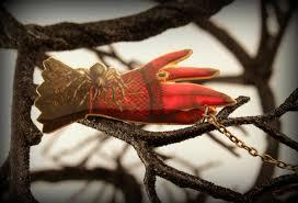goth jewelry halloween pin demon pin spider demon unique
