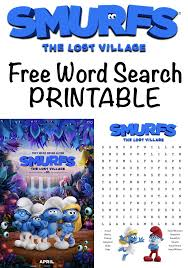 Free Word Search Worksheets The Lost Village Free Word Search Printable