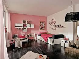 beautiful teenage bedroom design ideas with black wooden floor