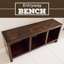 Diy Storage Bench Plans by Diy Entryway Bench Entryway Bench Storage And Woods