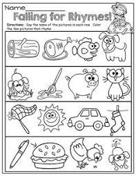 rhyming worksheets kindergarten free worksheets