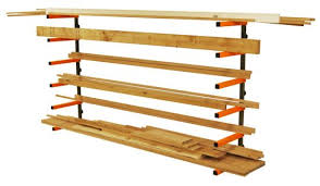 lumber storage rack portamate pbr 001 six level wall mount wood
