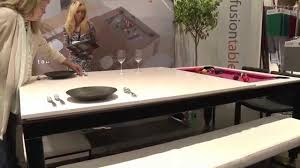 Dining Pool Table by Fusion Tables Combination Pool And Dining Table Icff 2015 Youtube
