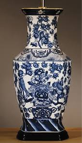 Oriental Table Lamps Uk Oriental Blue And White Hexagonal Ceramic Table Lamp Base Only Lui