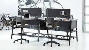steelcase sit stand desk turnstone bivi modern office desk system steelcase