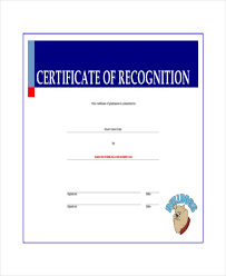 20 certificate of recognition templates free sample example
