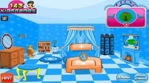 permainan games elsa frozen mendekorasi ruangan kamar rumah es