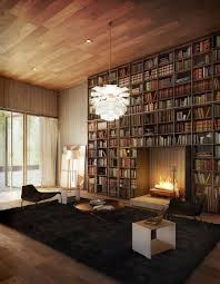 bookcases vintage home library design with luxury crystal