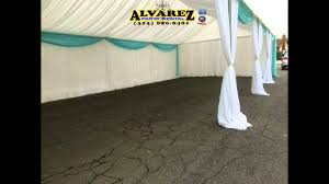 tent draping alvarez party rental tent 20x40 white and blue draping