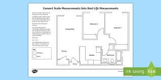 Draw A Floorplan To Scale Convert Scale Measurements Into Real Life Measurements A Floor