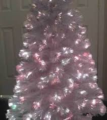 4 foot white fiber optic tree ariticial tree