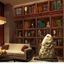 3d Bookshelf 3d Stereo Custom Bookcase Bookshelf Wallpaper Casual Coffee