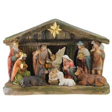 9 5 nativity scene christmas tabletop decoration with color