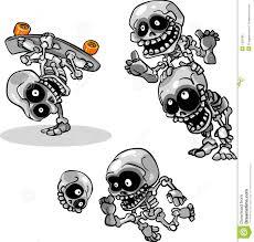 Skeletons For Halloween by Vector Cartoon Halloween Undead Skeletons Royalty Free Stock