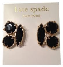 onyx stud earrings kate spade black clustered onyx stud earrings tradesy