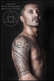 arab mandala sleeve tattoo by peter blackhand by meatshop tattoo