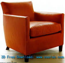 Leather Sofa Chair by Red Leather Sofa Chair High Pad Single 3d Model Including