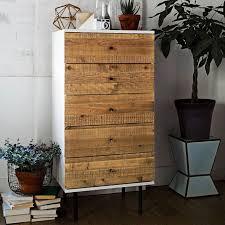 Dresser For Bedroom Reclaimed Wood Lacquer 5 Drawer Dresser West Elm