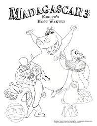 madagascar coloring sheets doodlesave delightful doodles