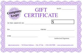 free customizable gift certificate template free gift certificate