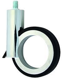 design m belrollen design möbelrollen mit stift und bremse zamak chrom schwarz 120mm