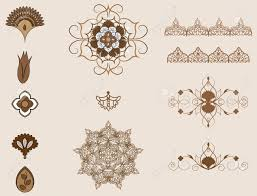 Ottoman Arabic Element Of The Arabic Ornament Ottoman Patterns Royalty Free