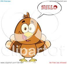 clipart of a thanksgiving turkey bird saying hello