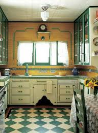 Art Deco Kitchen Cabinets Art Deco Kitchen With Green Countertops Creating The Elegant Art