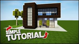 minecraft house tutorial simple modern house best house