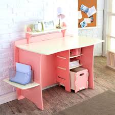 White Kid Desk Pink Corner Desk Come With Triangle Shaped Pink