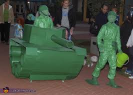 life size green army men halloween costume contest at costume