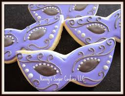 nanny s sugar cookies llc sweet 16 masquerade mask cookie favors