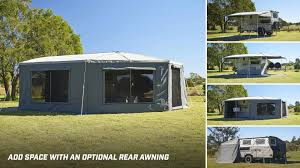 Rear Awning Breakaway Ultra The Best Family Camper Trailer Lifestyle