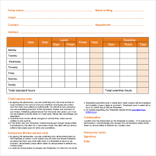12 daily timesheet templates u2013 free sample example format