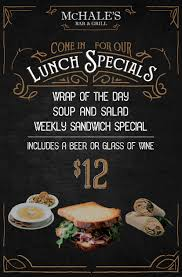 thanksgiving sandwich this week s lunch special at mchale s bar