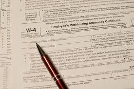 Irs Tax Withholding Tables Form W 4 Information For Employers