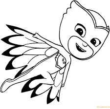 owlette pj mask coloring page free coloring pages online