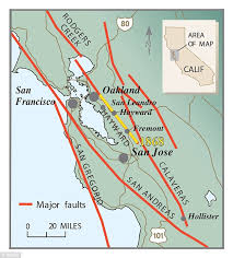 san francisco fault map hayward fault could cause greatest disaster to hit