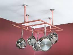 kitchen pot racks with lights construct a copper pipe pot rack quarto homes