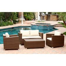 Bjs Patio Furniture by Abbyson Living Alesso 4 Pc Brown Wicker Patio Set Bj U0027s