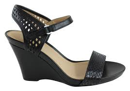 Images of Ladies Leather Wedge Sandals