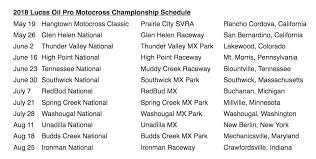lucas oil pro motocross schedule 2018 lucas oil ama pro motocross schedule cycle news