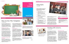 free college newsletter template at document templates