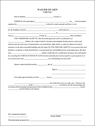 waiver of lien template indiana partial waiver of lien for free tidyform