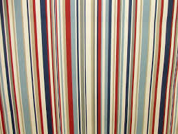Red Blue Curtains 1 Metre Nautical Red Blue Ticking Stripe Cotton Curtain Upholstery