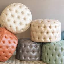 small round tufted ottoman bed bath remarkable round tufted ottoman for home furnishings