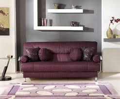 stylish living room living room with storage sleeper sofa in burgundy fabric