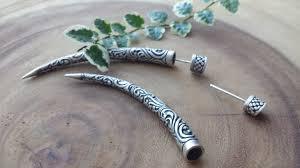 original earrings taman silver tusk earrings dvibhumi